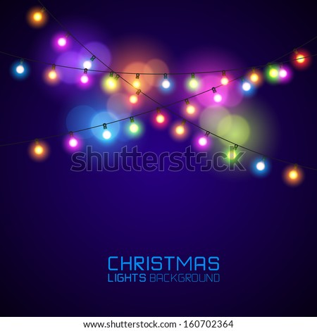 colourful glowing christmas