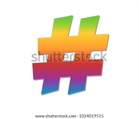 Hash Symbol Logo Concept Design Download Gratis Vectorkunst En
