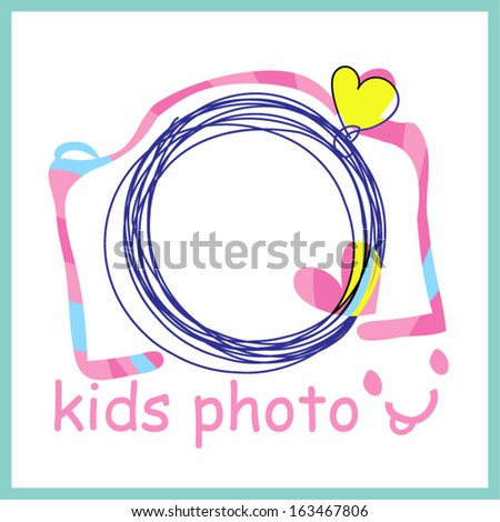 colourful pink camera clipart