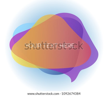 Colourful transparent speech bubbles with custom text area