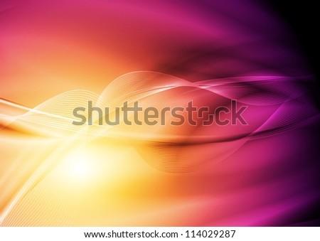 Colourful waves design. Vector illustration eps 10