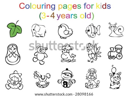Coloring Pages For Kids 4 Years Old