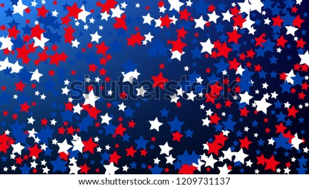 usa independence day red blue and white stars on