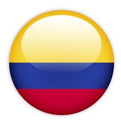 Columbia flag button on white