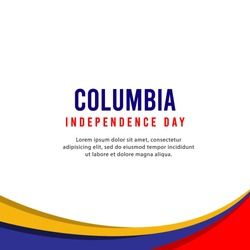 Columbia independence day vector template. Design illustration for banner, advertising, greeting cards or print.
