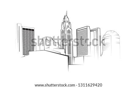 Columbus, Ohio Skyline Vector Illustration