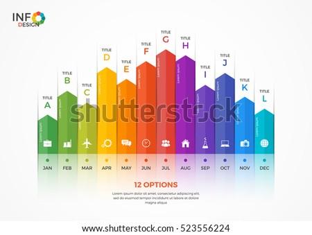 column chart infographic