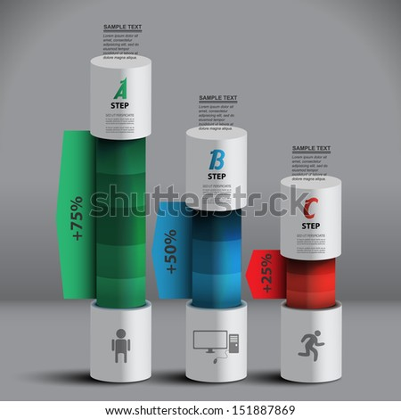 columns of data for the presentation of data creative vector infographics