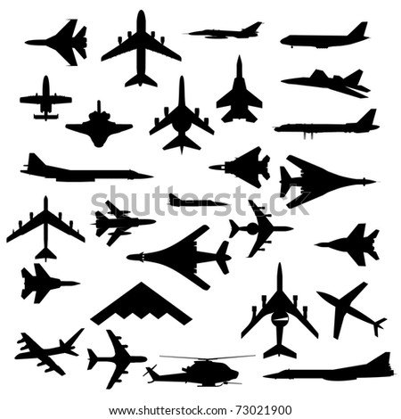 combat aircraft team  vector