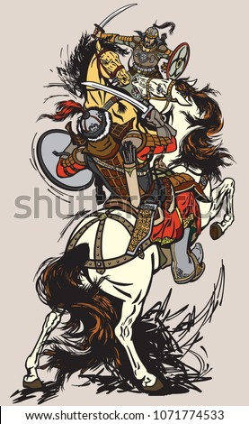combat of mongolian warriors