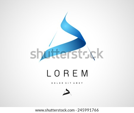 Combination of Letter A. Abstract Vector Logo Design Template. Creative Blue Concept Icon