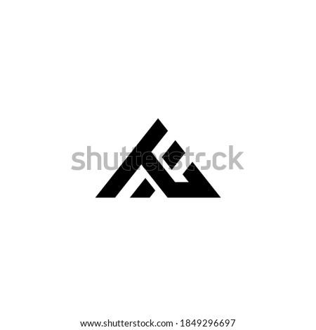 combination of letter l logo with letter h logo Stock fotó ©