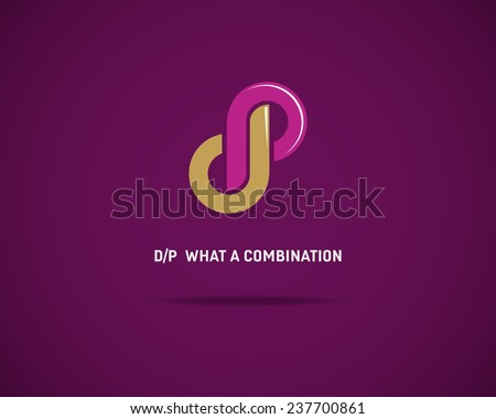 Combination of Letters D and P. Abstract Vector Logo Design Template. Creative Concept Icon