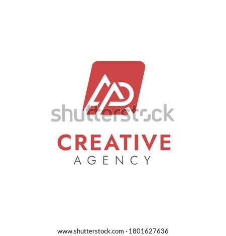 Combinations Letter A + A + D Logo Design Vector Concept with Negatif Space Around the Mountain Stok fotoğraf ©