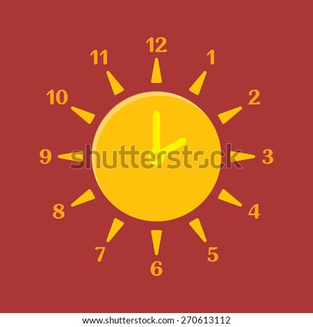 combined clock and sun summer