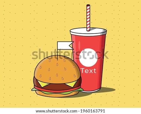 Combo hamburguesa vector, realizado con estilo comic, muy util para tus proyectos vintage. Foto stock ©
