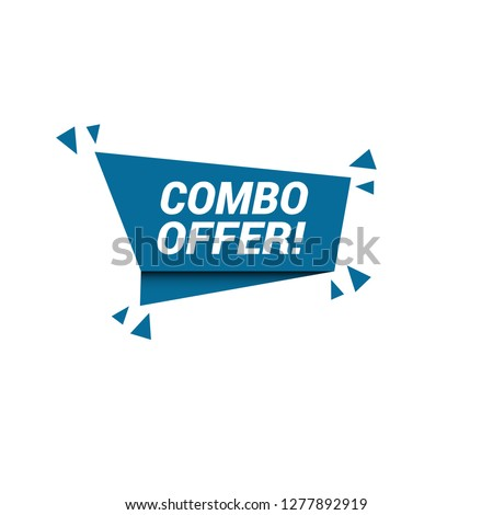 Combo offer sign, emblem, label, badge,sticker. Combo offer paper origami speech bubble. Combo offer tag. Combo offer banner. Designed for your web site design, logo, app, UI - Vektor