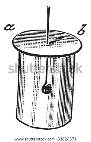 Combustion of Phosphorus in a glass jar containing Oxygen gas, vintage engraved illustration. Trousset encyclopedia (1886 - 1891).