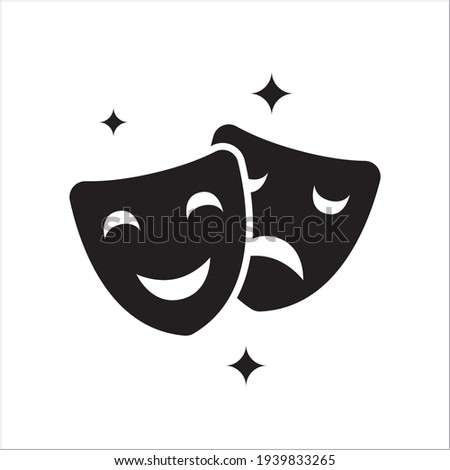 comedy and tragedy theater masks vector template Stock fotó ©