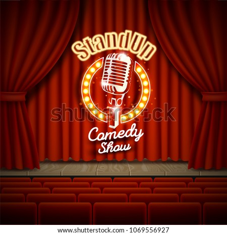 comedy show theater scene with