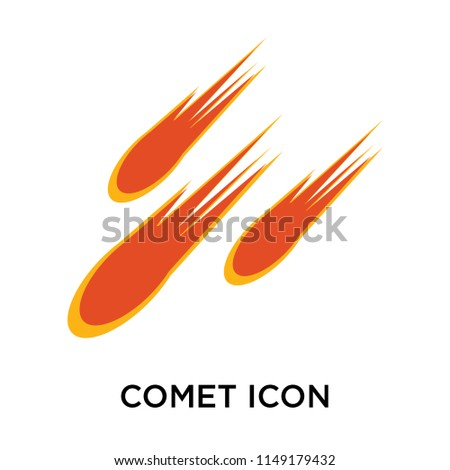 comet icon vector isolated on