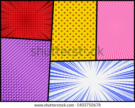 comic abstract colorful