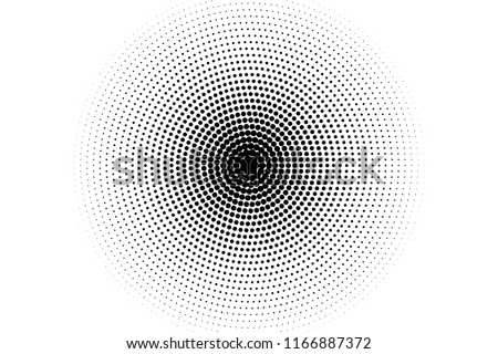 Comic background. Pop art style. Pattern with circles, halftone dotted backdrop. Radiating from the center starburst, sun burst rays, lines. Design for web banners, Wallpaper,sites Vector illustration