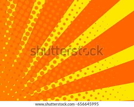 comic background yellow and