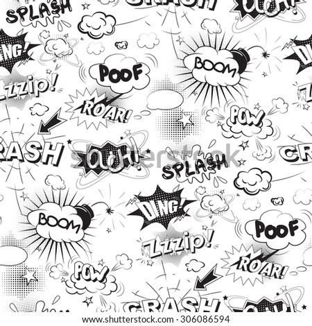 comic black speech bubbles in