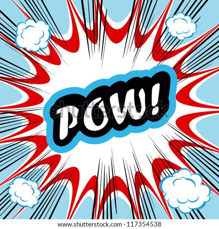 comic book background pow