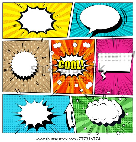 comic book bright background