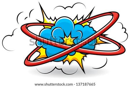 comic book cloud explosion