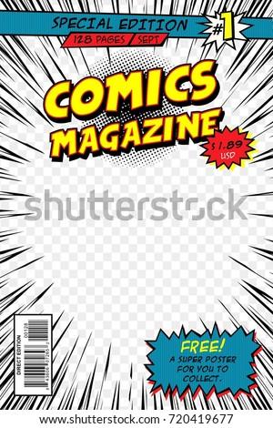 Comic book cover. Template vector art