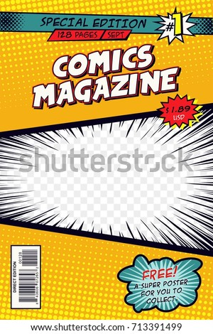Comic book cover. Vector art