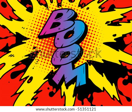 comic book images. stock vector : Comic book explosion