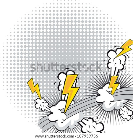 comic book explosion with spacer for copy. vector illustration