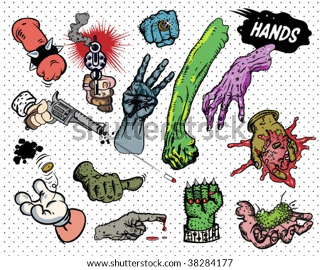comic book   hands