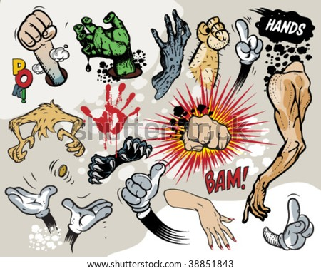 Comic book - Hands