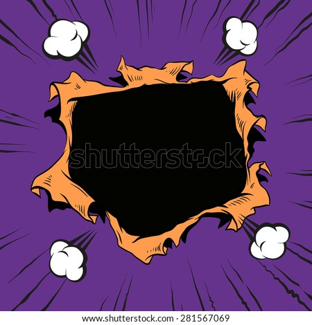 comic book hole  vector