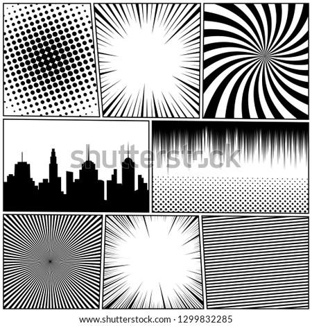 comic book monochrome template