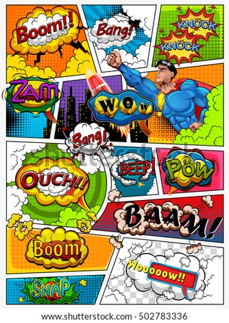 comic book page divided by