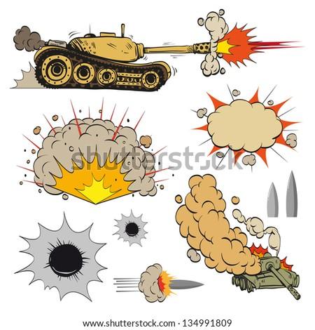 comic book set of tanks