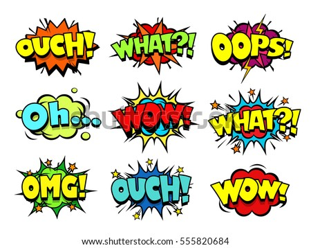 comic book sound effect speech