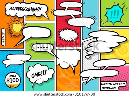comic book speech bubbles a