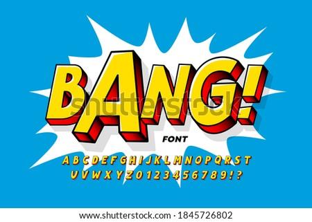 comic book style font design