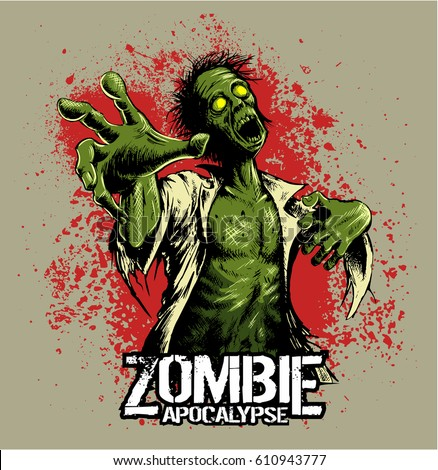 comic book style zombie with