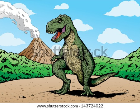 comic book t rex t rex is on a