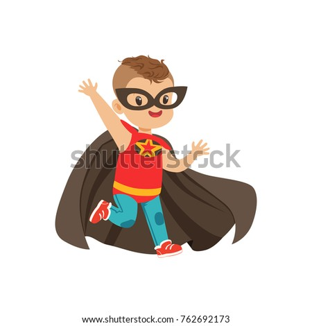 comic brave kid with trendy