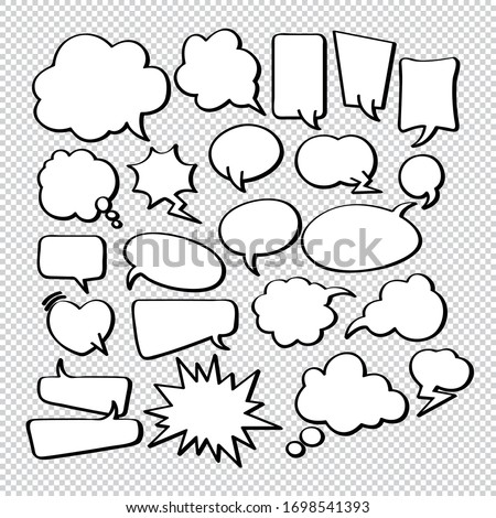 Comic Bubble Speech Balloons Speech Cartoon Speech Vector