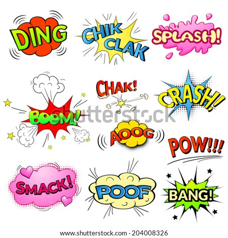 ouch wording sound effect for comic speech bubble free image